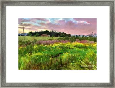 Framed Print featuring the painting Summer Field by Sergey Zhiboedov
