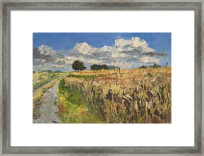 Summer Fields Plein Air Landscape Framed Print