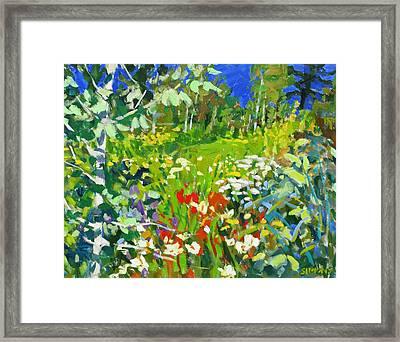 Summer Flowers Framed Print by Brian Simons