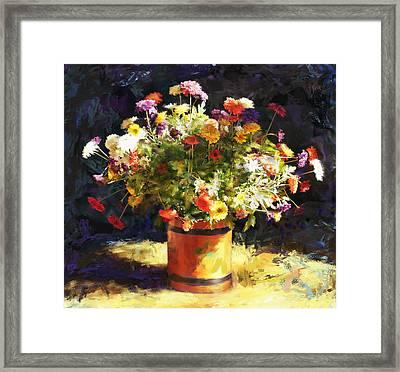 Summer Flowers Framed Print by Sandra Selle Rodriguez
