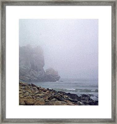 Summer Fog At The Beach Framed Print by Methune Hively