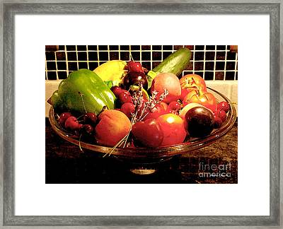 Summer Fruit And Veggies Still Life -- Another Fresh Paintograph Framed Print by Christine S Zipps