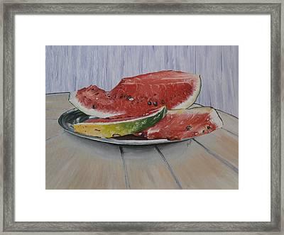 Summer Fruit Framed Print by Maria Woithofer