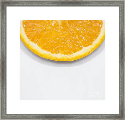 Summer Fruit Orange Slice On Studio Copyspace Framed Print by Jorgo Photography - Wall Art Gallery
