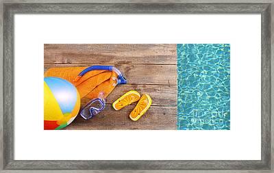 Summer Fun Background Framed Print by Sandra Cunningham