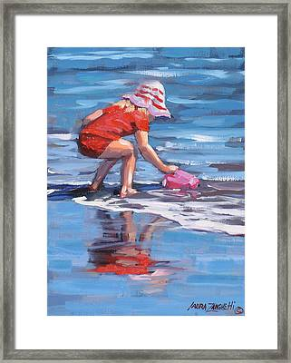 Summer Fun Framed Print by Laura Lee Zanghetti