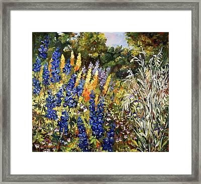 Summer Garden Framed Print by Alexandra Maria Ethlyn Cheshire