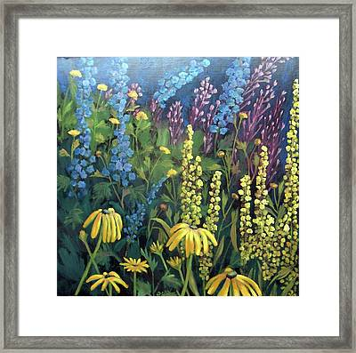 Framed Print featuring the painting Summer Garden by Susan  Spohn
