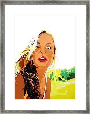 Summer Girl Framed Print by Heli Luukkanen