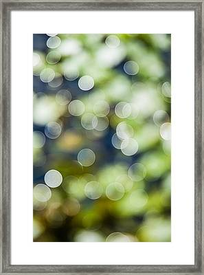 Summer Glitter Framed Print