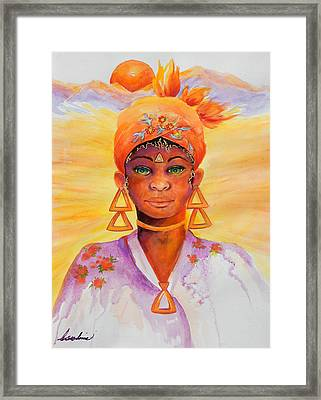 Summer Goddess Framed Print