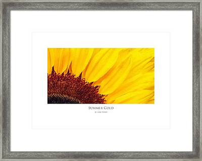 Framed Print featuring the digital art Summer Gold by Julian Perry