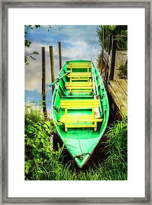 Summer Green Framed Print by Debra and Dave Vanderlaan