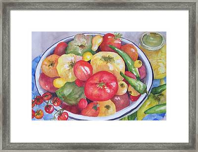 Summer Harvest Framed Print by Sandy Collier