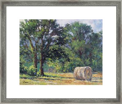 Summer Hay At The Ranch Framed Print by Vickie Fears