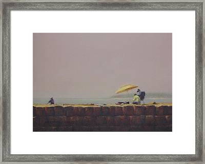 Summer Haze Framed Print by Barbara Groff