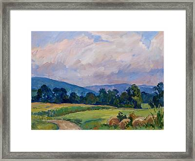 Summer Haze Berkshires Framed Print