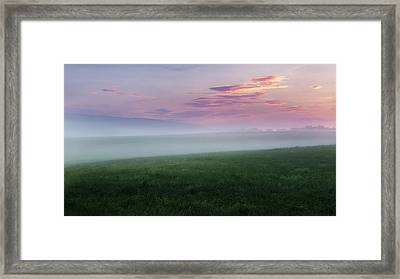 Summer Hills Sunrise Framed Print