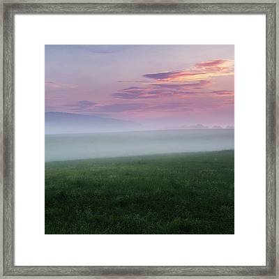 Summer Hills Sunrise Square Framed Print by Bill Wakeley