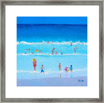 Summer Holiday At The Seaside Framed Print