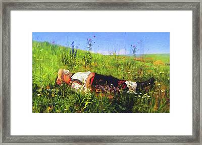 Summer Holidays Are For Dreaming Framed Print