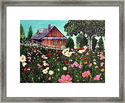Summer House Framed Print by Dia Spriggs