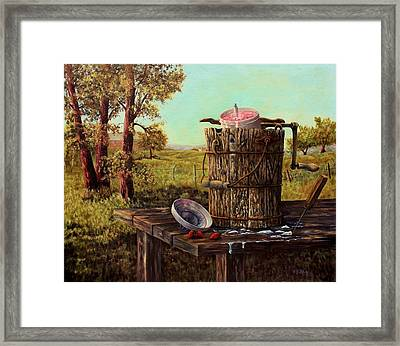 Summer Ice Cream Framed Print