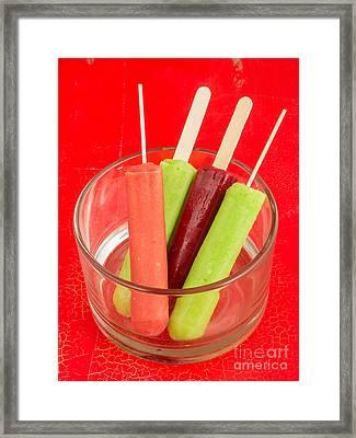 Summer Ice Pops Framed Print by Edward Fielding