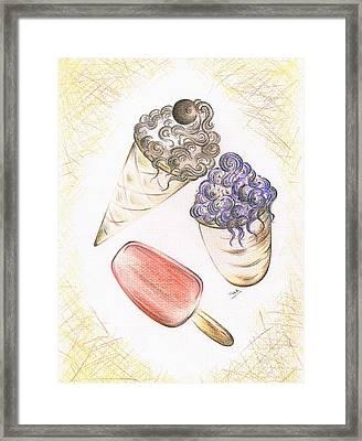 Summer Ices Framed Print by Teresa White