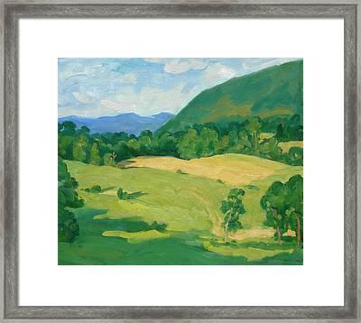 Summer Idyll Berkshires Framed Print