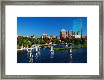 Summer In Boston Framed Print by James Kirkikis