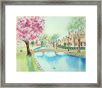 Summer In Bourton Framed Print