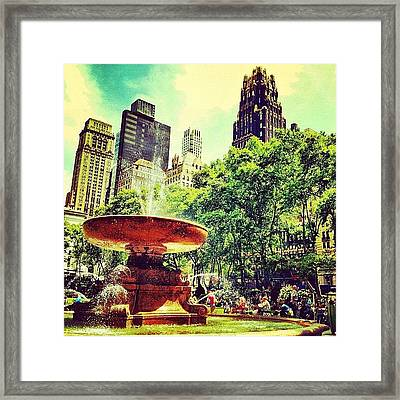 Summer In Bryant Park Framed Print