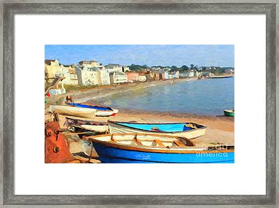 Summer In Dawlish Framed Print