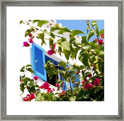 Summer In Greece Framed Print by Ilias Kordelakos