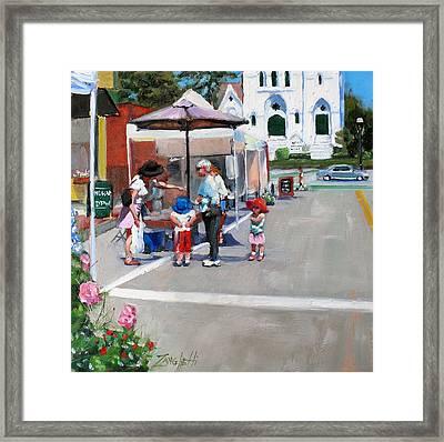 Summer In Hingham Framed Print by Laura Lee Zanghetti
