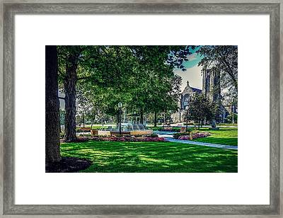Framed Print featuring the photograph Summer In Juckett Park by Kendall McKernon