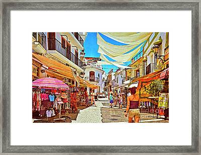 Framed Print featuring the photograph Summer In Malaga by Mary Machare