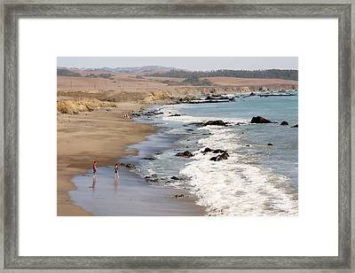 Framed Print featuring the photograph Summer In San Simeon by Art Block Collections