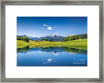 Summer In The Alps Framed Print