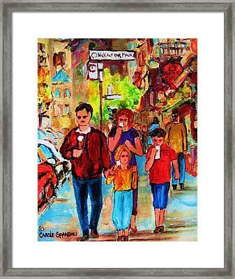 Summer In The City Framed Print by Carole Spandau