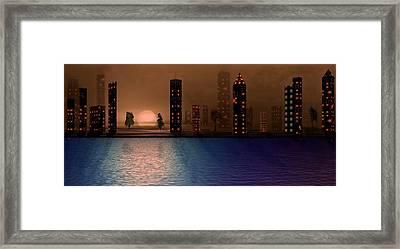 Summer In The City Framed Print
