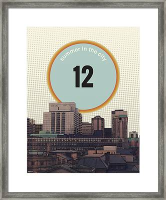 Framed Print featuring the photograph Summer In The City by Phil Perkins