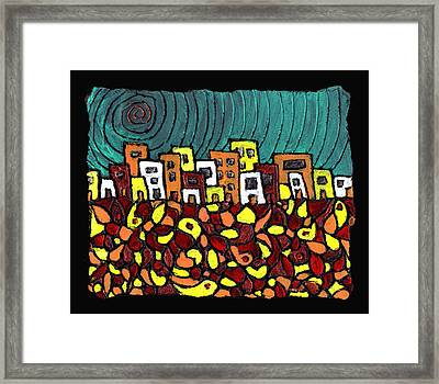 Summer In The City Framed Print by Wayne Potrafka