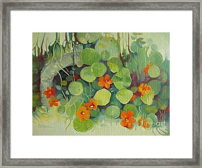 Framed Print featuring the painting Summer In The Garden by Elena Oleniuc