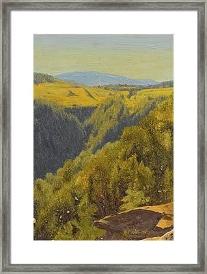 Summer In The Hills Framed Print