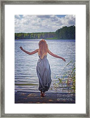 Summer In The Light And Winter In The Shade Framed Print