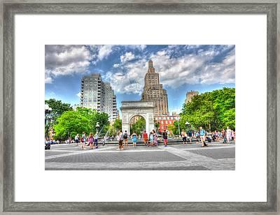 Summer In Washington Square Park Framed Print