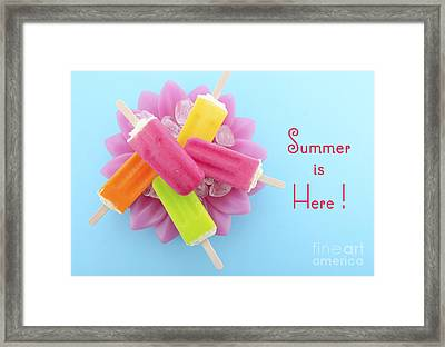 Summer Is Here Cold Candy Framed Print by Milleflore Images