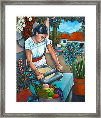 Summer Kitchen Framed Print by Lorraine Klotz